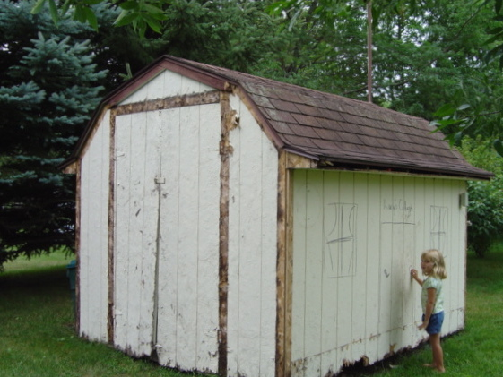 We could have won an ugly shed contest with this beauty!