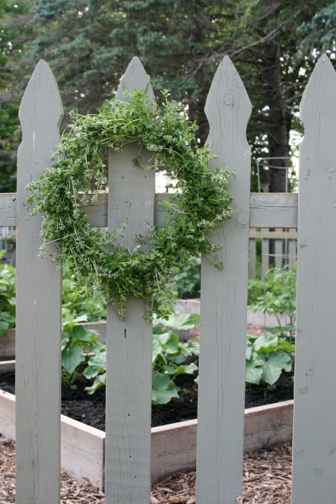 Maybe the garden gate needs a little wreath.